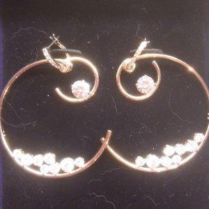 Swarovski New Gold and Crystal Earrings